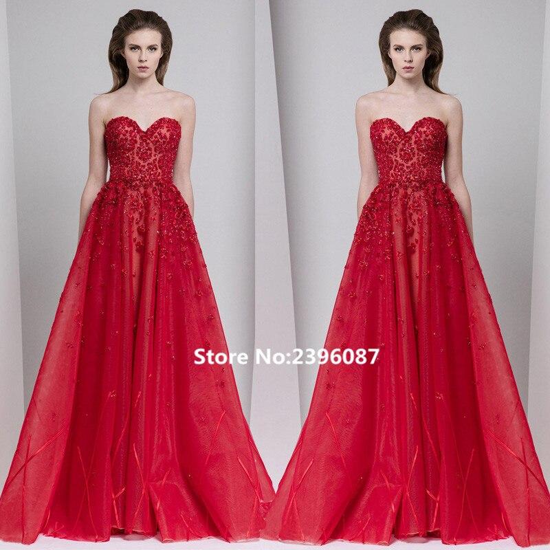 Nouvelle mode rouge chérie perlée a-ligne robes de soirée longue 2017 sans manches formelle robes de soirée robes Robe de soirée longue