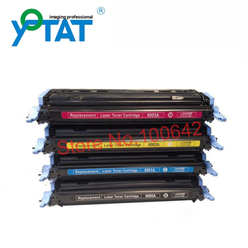 ФОТО Compatible Toner Cartridge Q6000A Q6001A Q6002A Q6003A for HP LaserJet 1600/2600/2605 Printer Series CM1015/1017 MFP Series