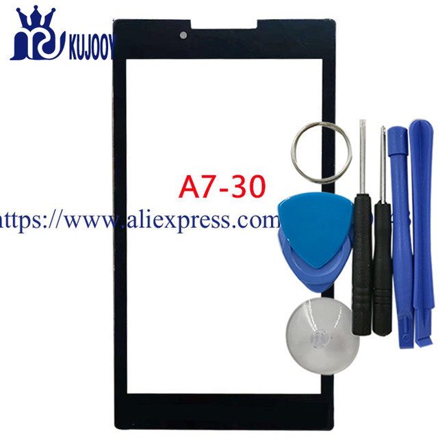 New A7-30 Front Touch Glass Lens For Lenovo Tab 2 A7-30 A7-30HC Outer Screen Touch Panel With Tools