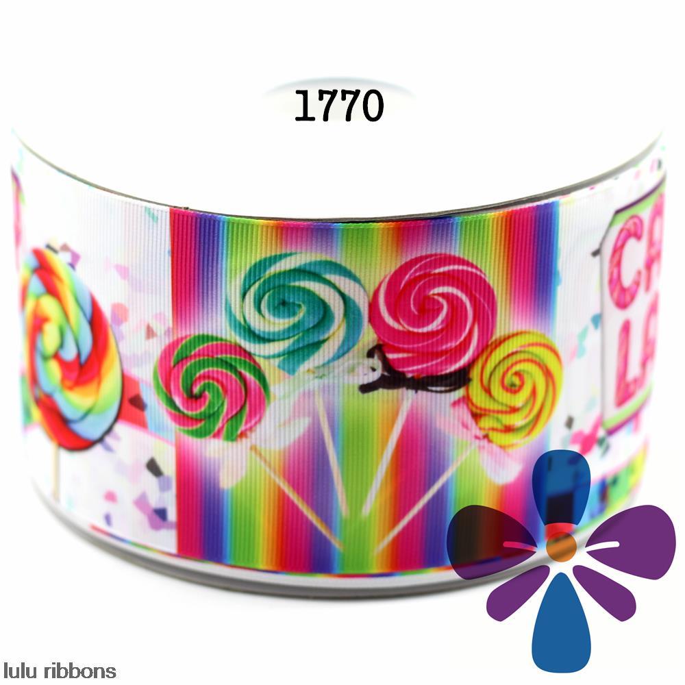 3 75mm Candy Land Printed Grosgrain Ribbon DIY Handmade Hair Bow Hair Clips Hair Accessories 50