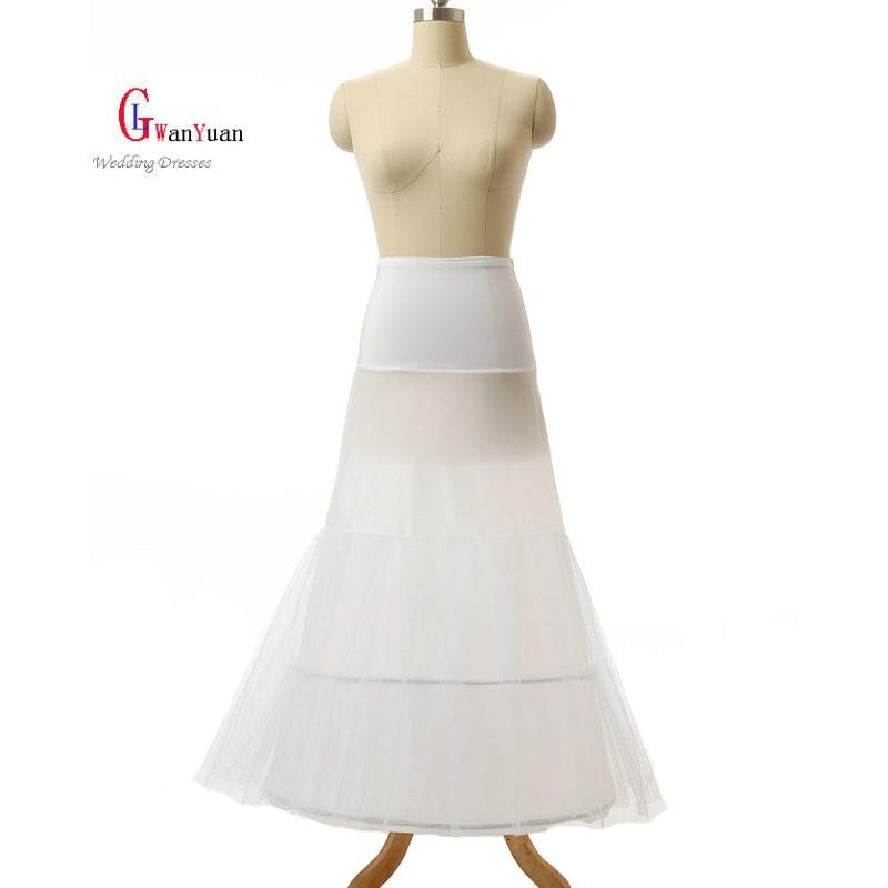 Petticoat High Quality 2 Hoops Mermaid Petticoat Crinoline For Mermaid font b Wedding b font Dress