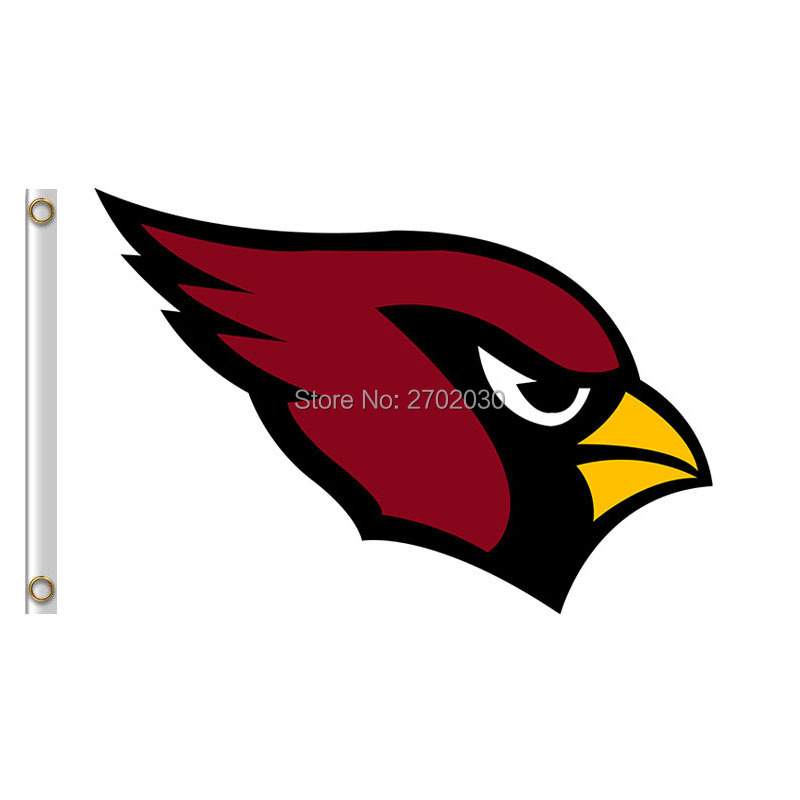 Arizona Cardinals Logo Flag Custom Banner 90x150cm Sport Stainless Steel Grommets World Series Football Team Cardinals Flag