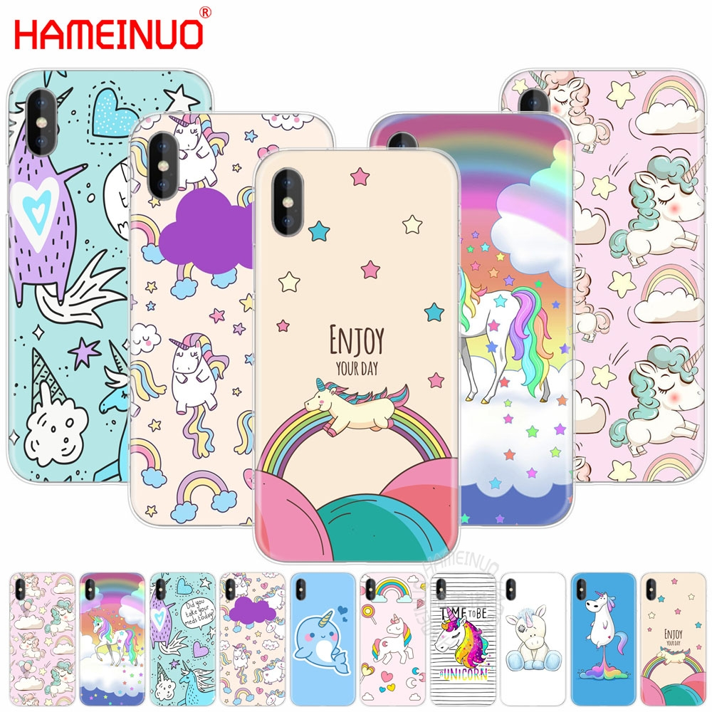 Unicorn On Rainbow Jetpack Cell Phone Cover For Iphone
