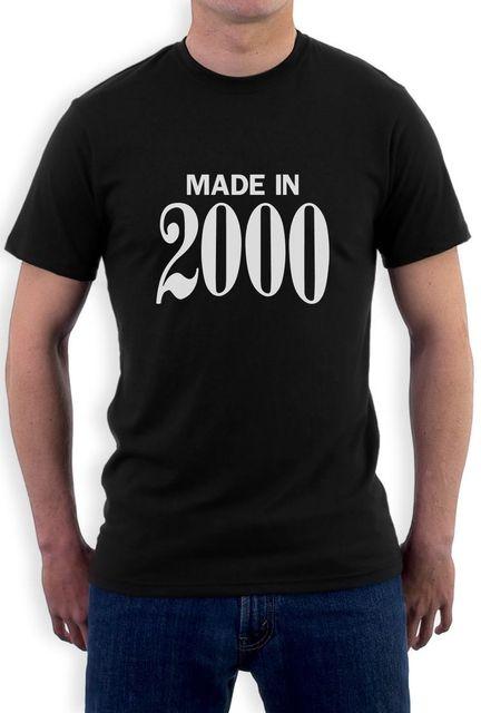 Made In 2000 Retro 16th Birthday Gift Idea Cool T Shirt Sweet Sixteen Men