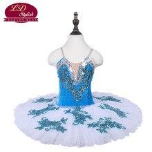 Blue Girls Stage Performance Ballet Tutu Costumes Children Ballet Dance Competition Dancewear Adult Ballet Skirt Apperal Dresses