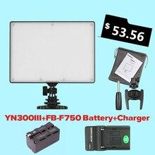 YONGNUO YN300 YN-300 Air LED видеокамеры света 3200 К-5500 К с NP-F750 декодировать аккумулятор + зарядное устройство для Canon Nikon и видеокамеры