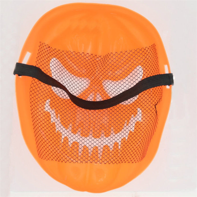 10PcsSet Halloween Party Supplies Horror Pumpkin Face Resin Mask Cosplay Photo Props Halloween Terrorist Mask A8A65 (4)