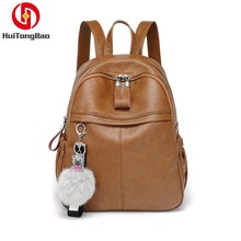 Women Fashion Small Bag Shoulders Mochila Woman Large Capacity Leather Mini Backpack Foldable Leisure School Bags Back Pack