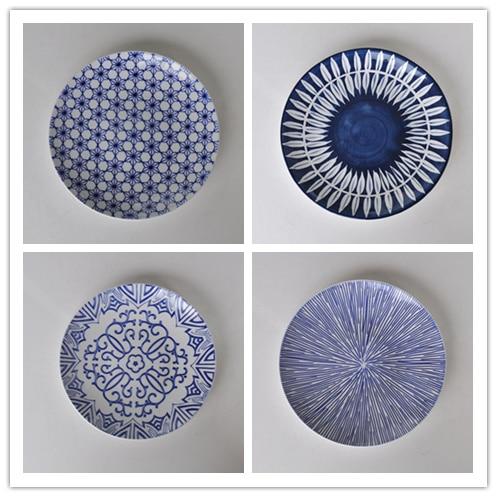 multi colored blue ceramic