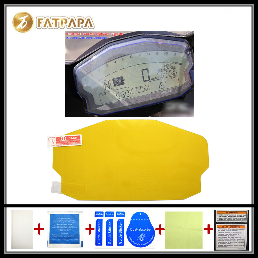 motorcycle Meter Km Table Display screen Blu-Ray Protective film Suitable FOR DUCATI panigale 899 959 1199 1299