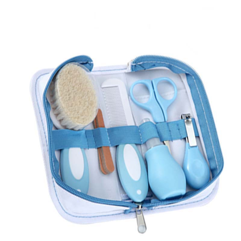 6Pcs/Set Baby Health Care Set Portable Newborn Baby Tool Kits Kids Grooming Kit Safety Cutter Nail Care Set for Baby Children