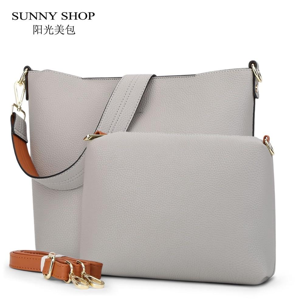 ФОТО SUNNY SHOP Brand  2 Bags/Set  Vintage Women Bag High Quality Women Messenger Bags Crossbody Bags For Women Handbags