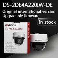 En stock Anglais version DS-2DE4A220IW-DE 20X zoom Optique 2MP Réseau mini intérieur extérieur PTZ Caméra Dôme POE 50 m IR