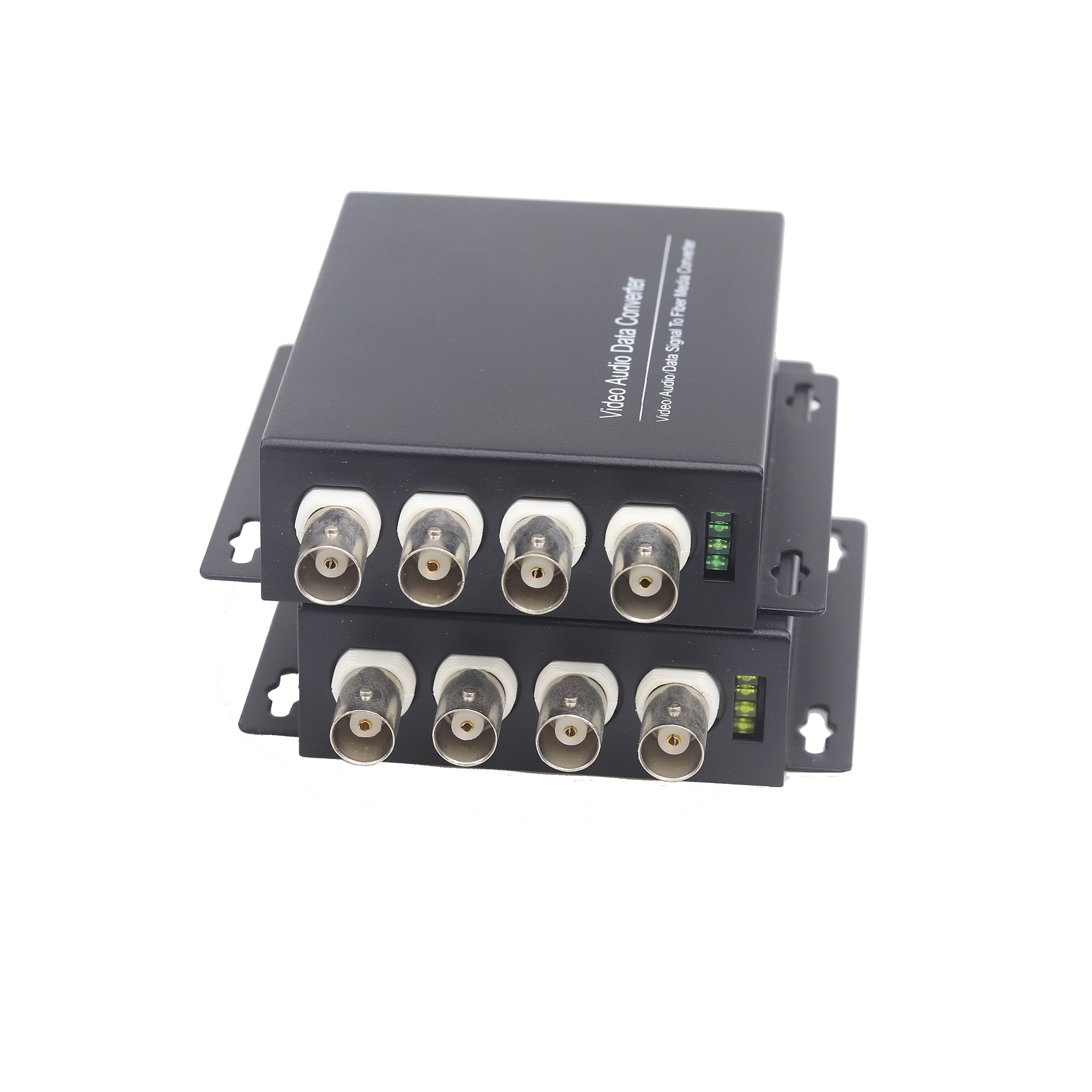20Km 4CH Digital Optical Transmitter & Receiver Converter Date Video Audio Optical Converter BNC FC Single Fiber / Mode Fiber