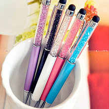 2 In 1 5pcs Stationery Writing Stylus Touch Screen Ballpoint Pen for iPhone Tablet