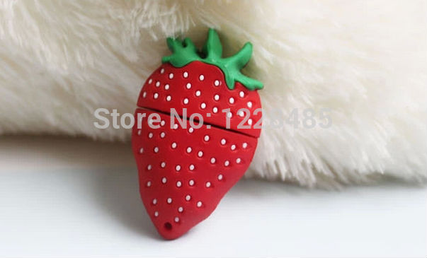 Usb Stick Bestselling! delicious cute strawberry USB flash drive 64GB 32GB 16GB 8GB 4GB USB Flash 2.0 Memory Drive Stick S546