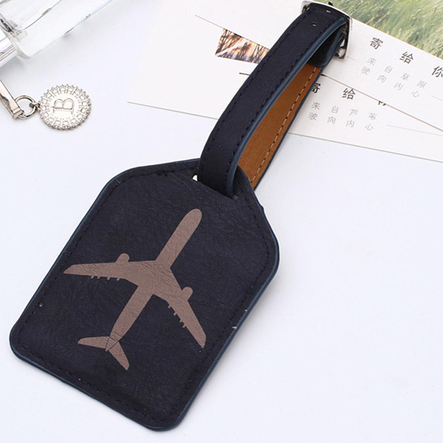 Sales Leather Suitcase Luggage Tag Label Bag Pendant Handbag Portable Travel Accessories Name ID Address Tags LT02B