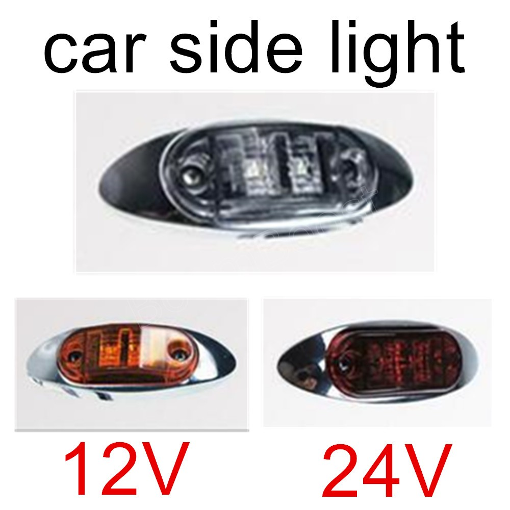 High quality 3 colors for choice 1 piece LED Side Marker Lights Clearance Lamp Trailer Truck Bus Car LED 12V 24V image