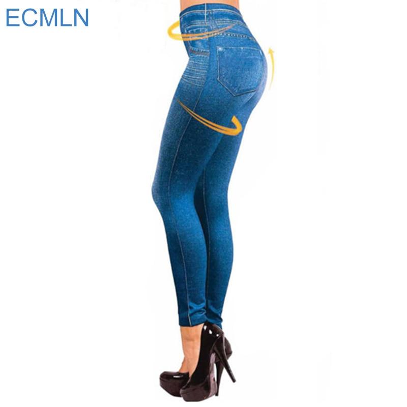 2017 Leggings Jeans for Women Denim Pants with Pocket Slim Leggings Women Fitness Plus Size Leggins S-XXL Black/Gray/Blue