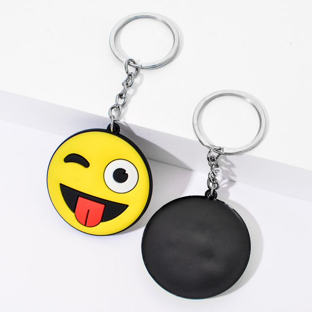 Vicney New Arrival Emoji Keychain Cool laughing Show love Emoji Key Chain Support Wholesale Cute Key Holder For Best Friends 2