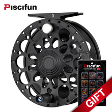 Piscifun Crest Black Fly Reel  Fully Sealed Drag CNC Machined Aluminium Alloy Right Left Hand Retrieve Fly Fishing Wheel