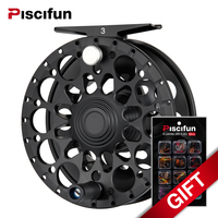 Piscifun Crest Black Fly Reel Fully Sealed Drag CNC Machined Aluminium Alloy Right Left Hand Retrieve
