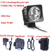 5000LM Cycling Bike Light XM L 3 x T6 LED Bicycle Front Light Head Lamp Headlamp+Battery Pack&Charger