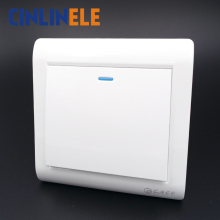 1Pcs Luxury Wall Switch, 1 Gang 1 Way, Ivory White, Brief Art Weave, Light Switch, AC 110~250V  10A 86mm*86mm