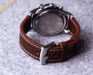 Image 5 - ของแท้หนังสายนาฬิกานาฬิกาสำหรับ Longines/Mido/Tissot/Seiko 18 มม.19 มม.20 มม.21mm 22mm 23mm สีเหลืองสีน้ำตาลสีดำนาฬิกา