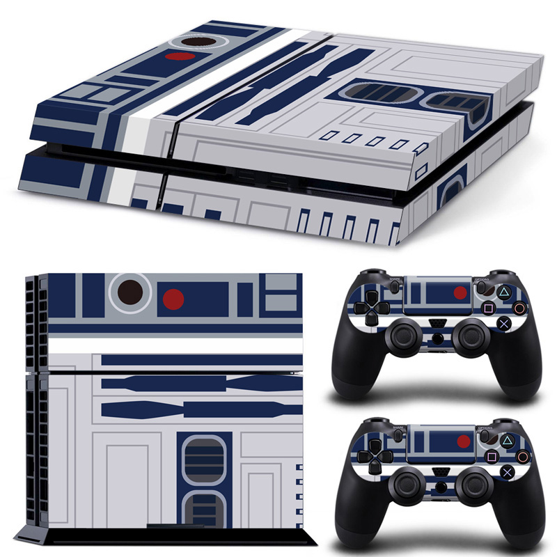 For Play Station 4 Console With 2Pcs Controller Vinyl Skin Stickers PS4 Skin Decal Cover Game Accessories