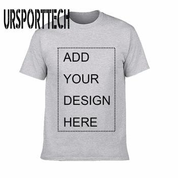 Summer Customized t shirt logo printing Men and women DIY Cotton T Short sleeve Casual T-shirt Tops Tees Mens Clothing