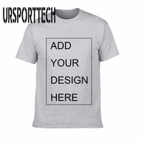 URSPORTTECH Customized Men S T Shirt Print Your Own Design High Quality Breathable Cotton T Shirt
