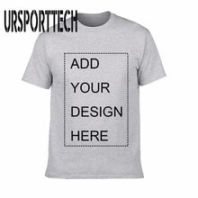 25f0cafe2 URSPORTTECH Customized Men's T Shirt Print Your Own Design High Quality  Breathable Cotton T-Shirt