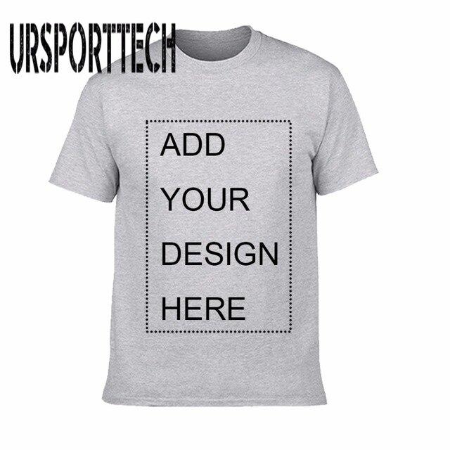 Ursporttech индивидуальные Для мужчин футболка печать свой собственный дизайн высокое качество дышащий хлопок футболка для Для мужчин плюс Размеры XS-3XL