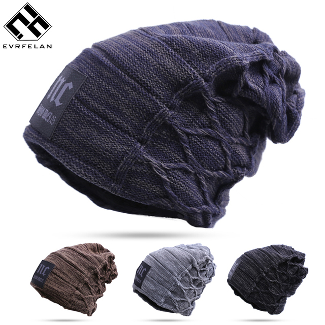 ed8862f4a034 Stylish Skullies Beanies Hat For Man Warm Winter Hat toucas gorros  Top-Quailty Drop Shipping