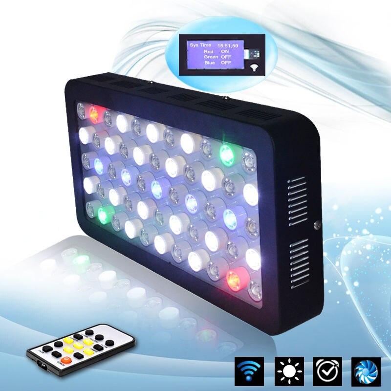Timer Control 165w Dimmable Full Spectrum Aquarium LED Light Coral Reef Tank  Moonlight EU UK UL Plug