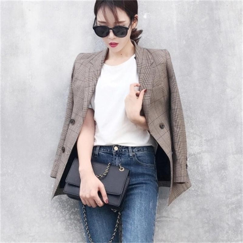 Manteau Vestes Blazers Porter Blazer Au Rétro Longues Et De Survêtement Costume 1 Femme Manches Vêtements Plaid Pour Femmes Travail ZwTEqCIxq