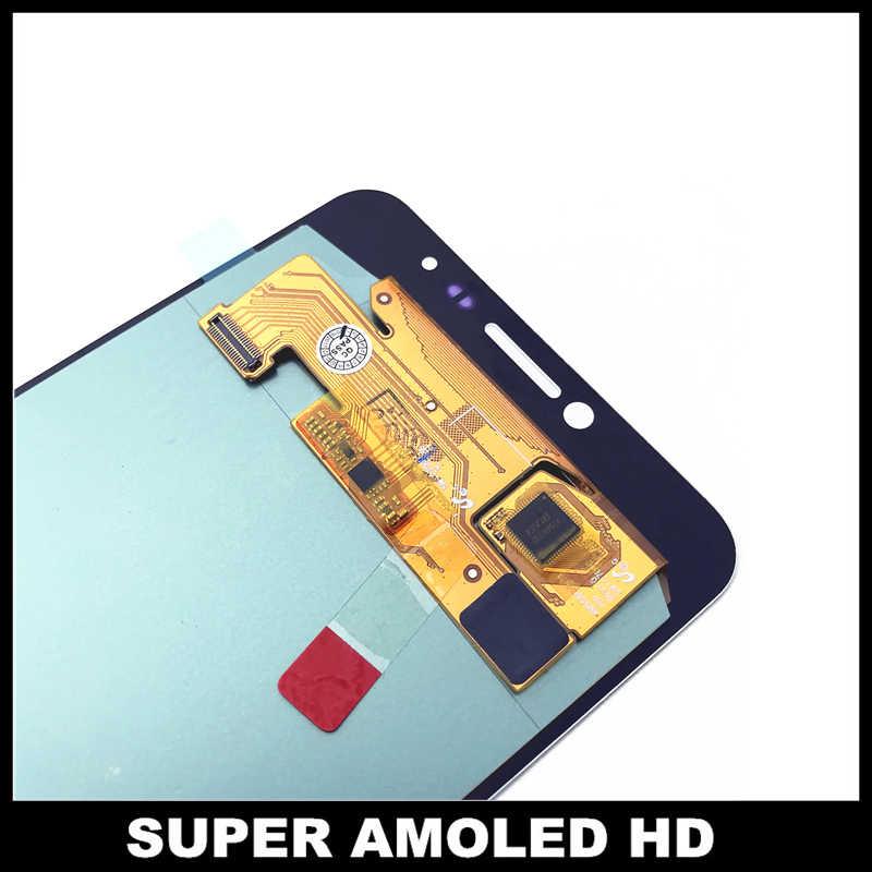 Thay thế Điện Thoại LCD Đối Với Samsung Galaxy C7 C7000 SM-C7000 Super AMOLED Hiển Thị Màn Hình Cảm Ứng Digitizer Hội Màu Trắng/Đen/ vàng