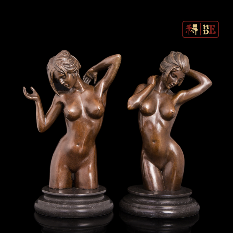 Wo arts and crafts copper sculpture decoration decoration Home Furnishing European body naked DS-543 DS-544