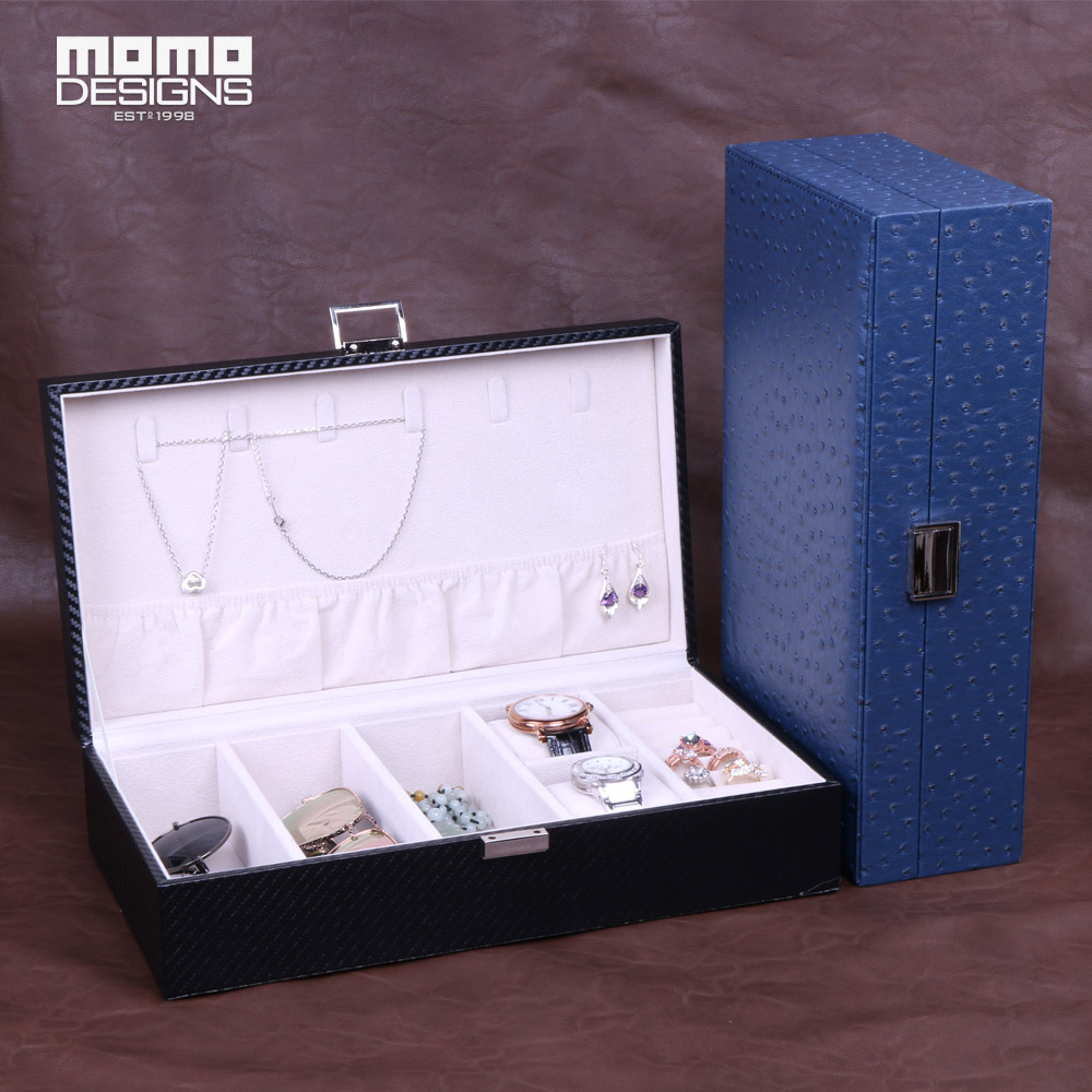 New arrived-Jewelry box Leather packaging travel case Watch packing boxes Sunglasses for business trip storage travel aluminum blue dji mavic pro storage bag case box suitcase for drone battery remote controller accessories