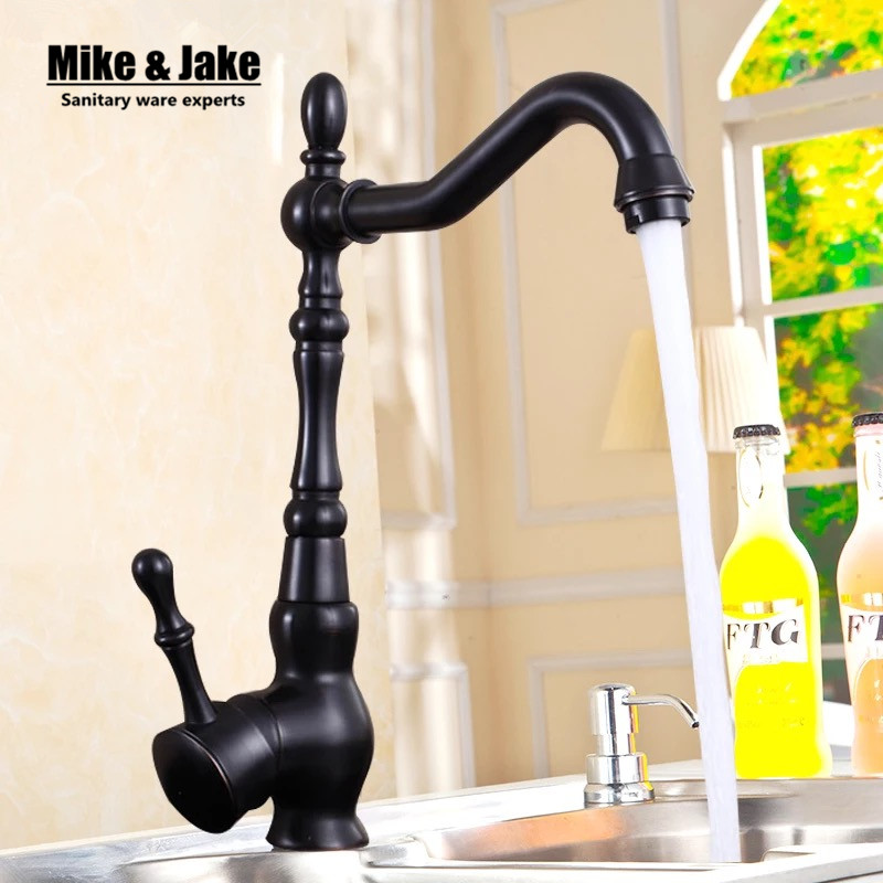 Oil Rubbed Black Bronze Swivel Singe Handle Bathroom Basin Kitchen Deck Mounted Sink Mixer Tap Faucet new design pull out faucet black bronze swivel singe handle bathroom basin kitchen deck mounted sink mixer tap faucet