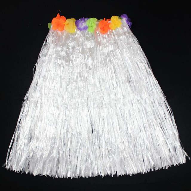 US $4.9  60cm dorosłe plastikowe włókna trawa spódnice spódnica hawajska przyjęcie hawajskie kostiumy urodziny impreza weselna upominek prezent w