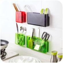 DIY Self-adhesive wall shelf organizer storage box kitchen bathroom finishing storage Holders rack accessories