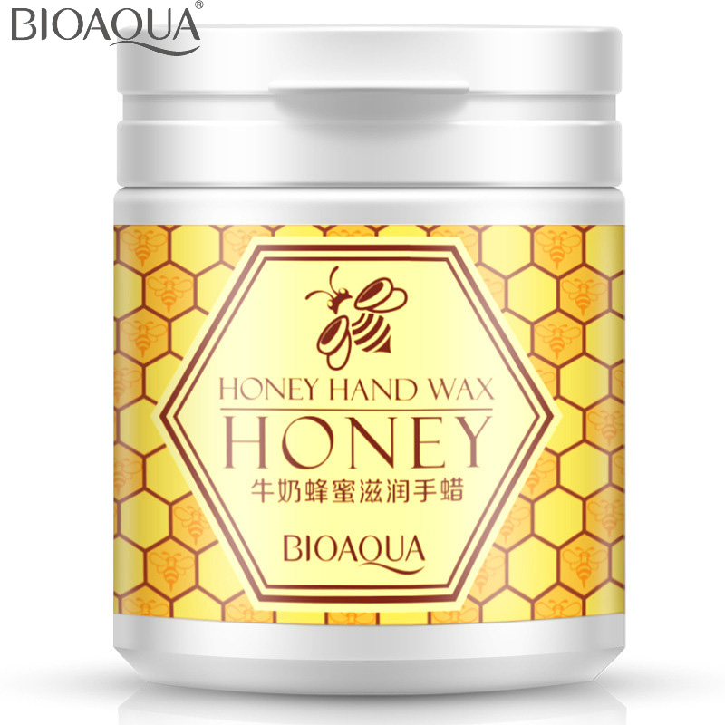BIOAQUA Milk Honey Moisturizing Hand Wax Paraffin Bath Hand Cream Whitening Hydrating Cutin Membrane Remove Aged Horn 170g