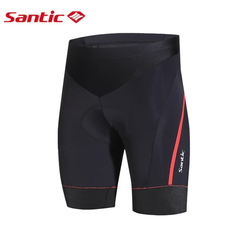 Santic Men Pro Summer Cycling Shorts Red Line Black Tight Bicycle Bike Padded Gel Cycling Shorts Cheap Size 3XL M6C05069H santic black