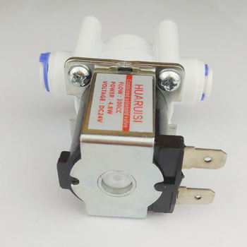 цена на 5PCS 1/4OD combination solenoid valve Ro water machine quick assembly wastewater DC24V water purifier accessories manufacturers