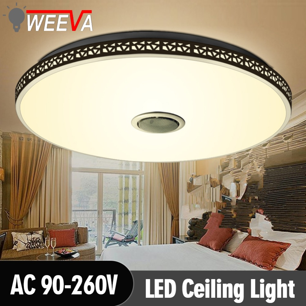 WEEVA Modern RGB Ceiling Light LED Lamp Panel Round Hall Surface Mount Flush Remote Control Living Room Bedroom Lighting Fixture led ceiling light modern lamp panel living room square lighting fixture bedroom kitchen hall surface mount flush remote control