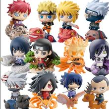 Q Version Anime Naruto Action Figures Collection Sasuke Uchiha Naruto Figures PVC Model Toy Set Toys Children Kids Best Gift