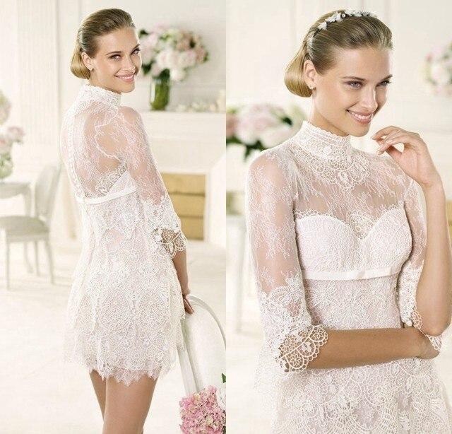 Western Style Wedding Dresses Short Mini