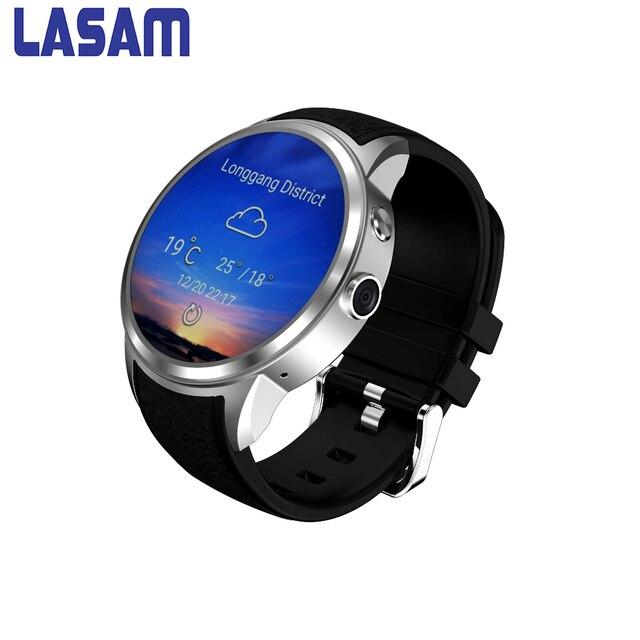Lasam исходном Смарт часы Android 5.1 MTK6580 1.3 г quad-core точность монитор сердечного ритма Поддержка gps 3 г SIM карты SmartWatch